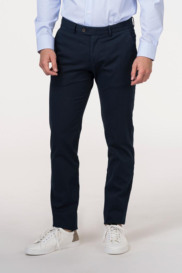 Muške pamučne hlače plave boje - Slim fit