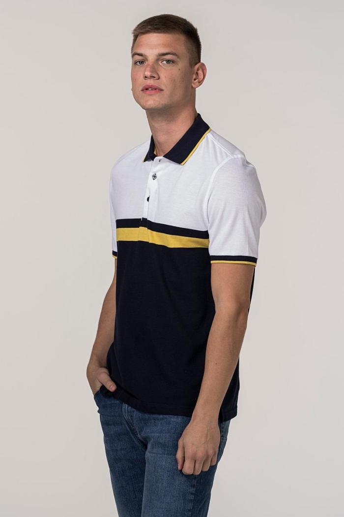 VARTEKS Muška polo majica s prugama - Regular fit
