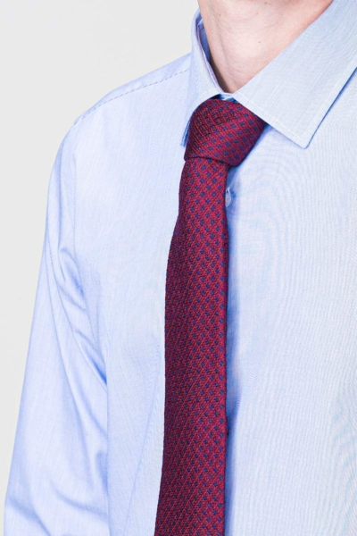 VARTEKS Slim fit - Muška košulja dugih rukava srednje plave boje - EASY IRON