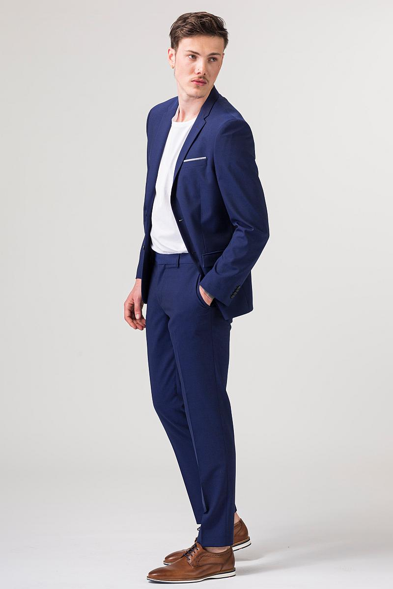 VARTEKS YOUNG - Plavi muški sako od odijela - Slim fit