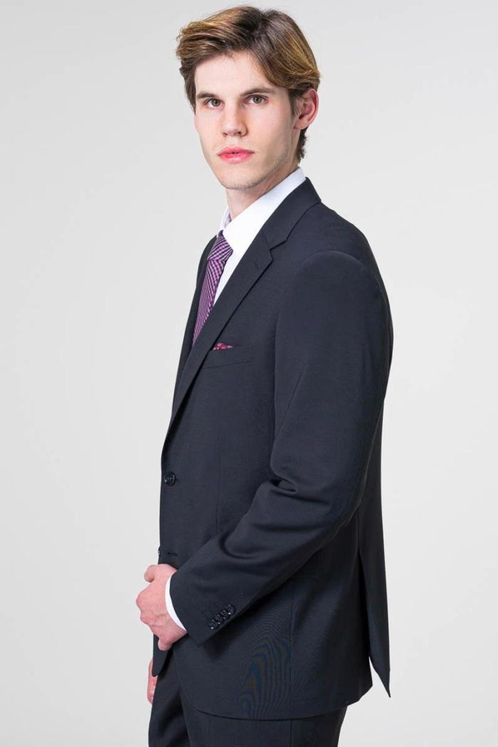 VARTEKS YOUNG - Sako od odijela u crnoj i tamno plavoj boji - Regular fit