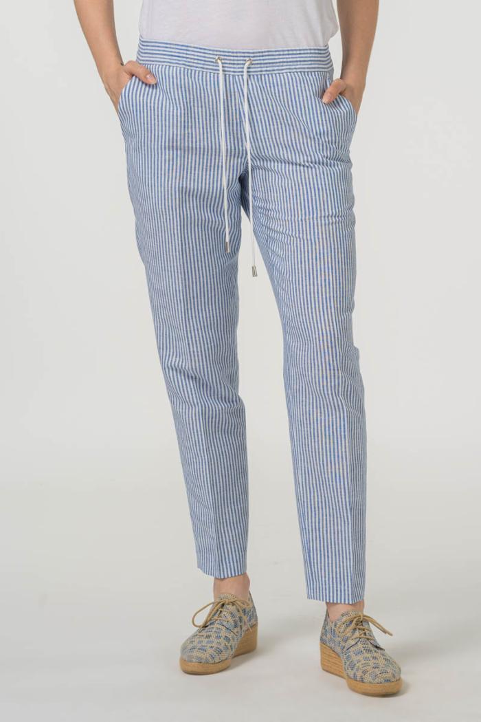 Varteks Prugaste ženske hlače na vezanje