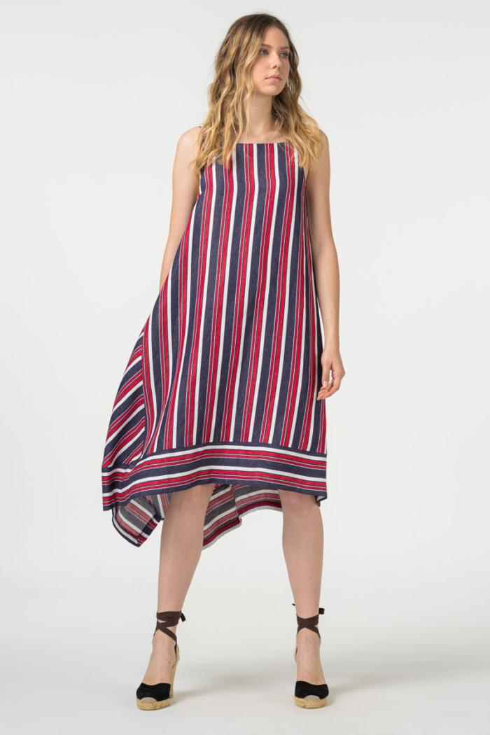 Varteks Prugasta haljina na naramenice