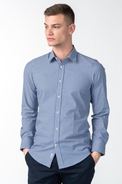 Varteks Muška košulja dugih rukava plave boje - Regular fit