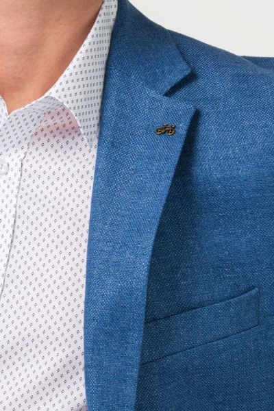 Varteks Muški laneni sako plave boje - Comfort fit
