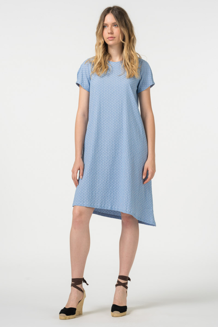 Light blue asymmetrical dress
