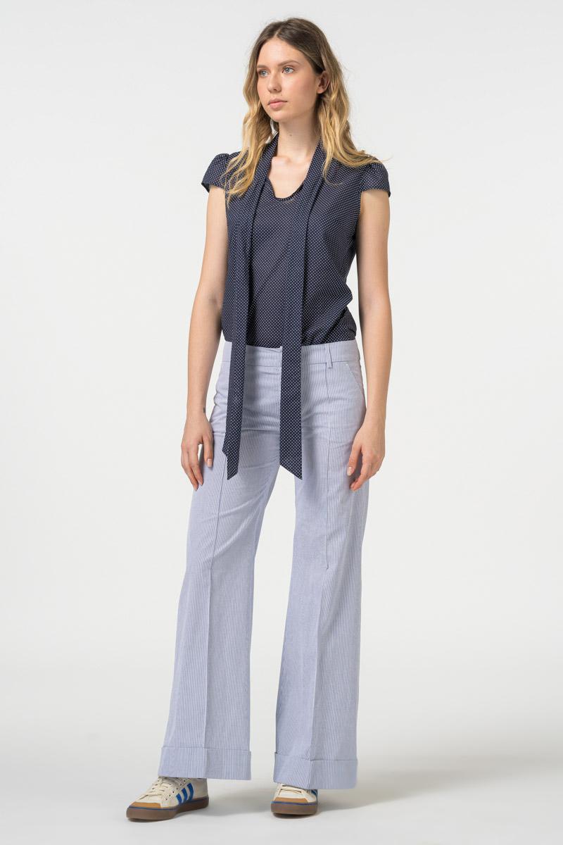Varteks Ženske pamučne hlače širokog kroja