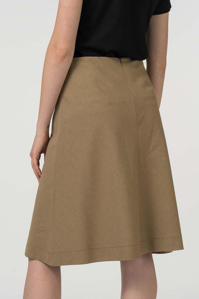 Varteks - Suknja A kroja zemljanog tona
