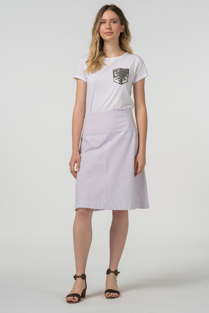 Varteks - Suknja A kroja s prugicama pastelnih boja