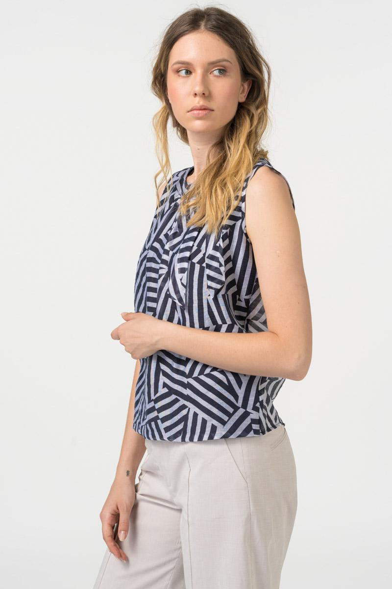 Varteks - Ženska prozračna ljetna bluza geometrijskih oblika