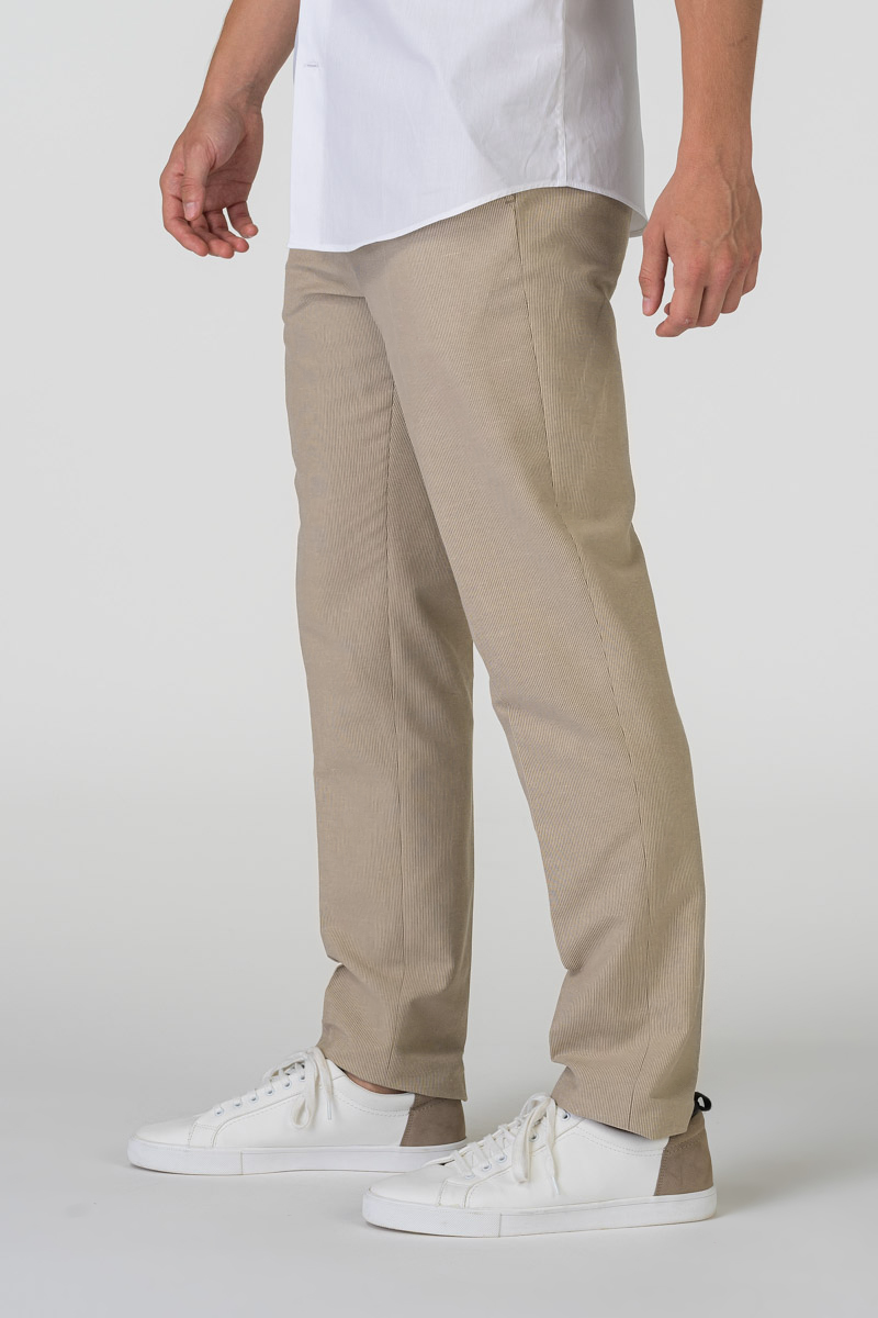 Varteks Muške hlače boje pijeska - Regular fit