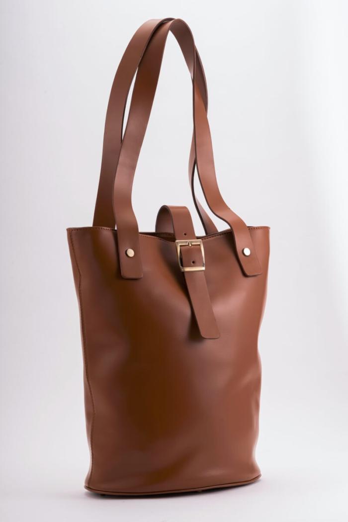 VARTEKS Ženska shopper torba u tri boje s remenom