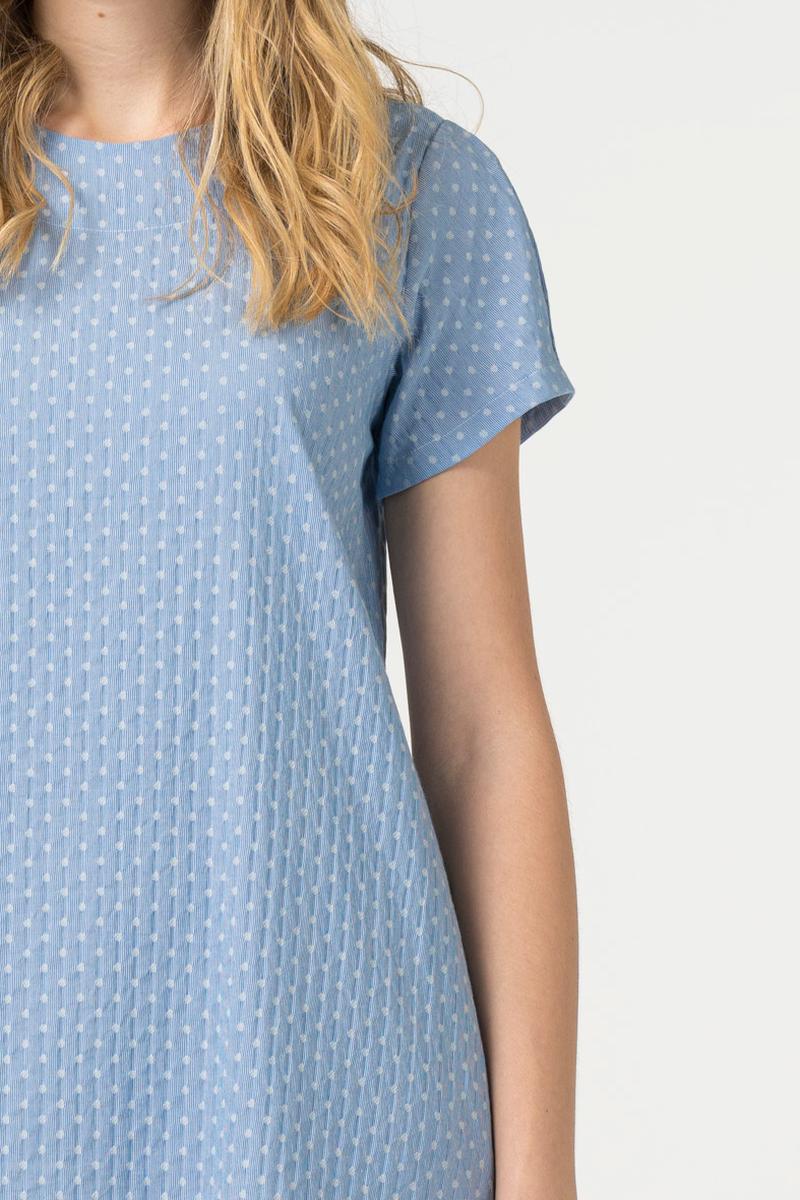 Light blue asymmetrical dress