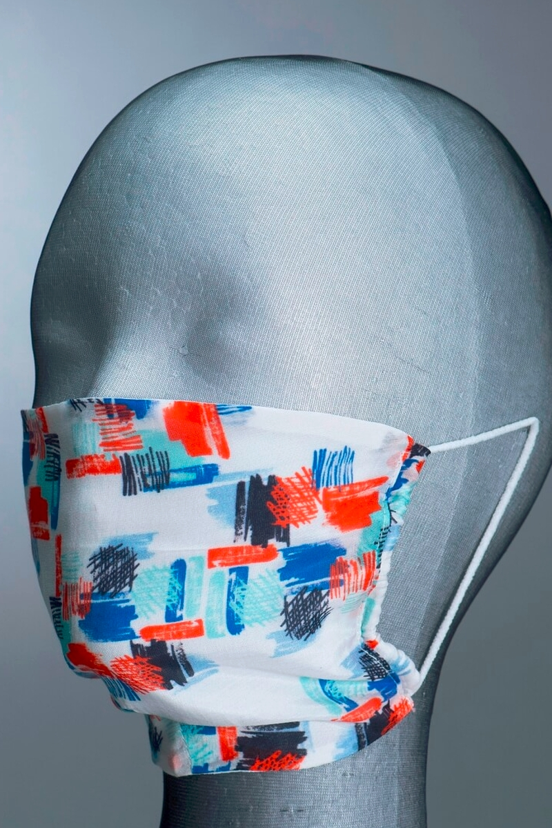 Modni dodatak za lice od pamuka i svile