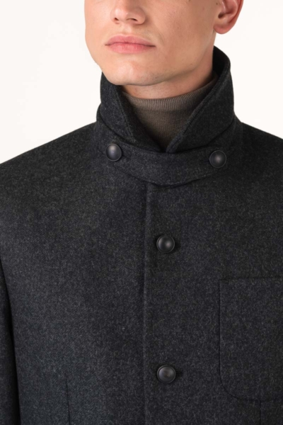 Varteks Fashionable men's dark grey coat