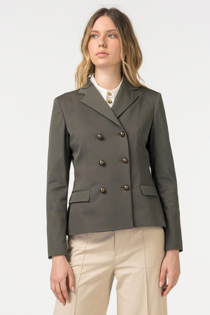 Ženski sako sivo zelene boje