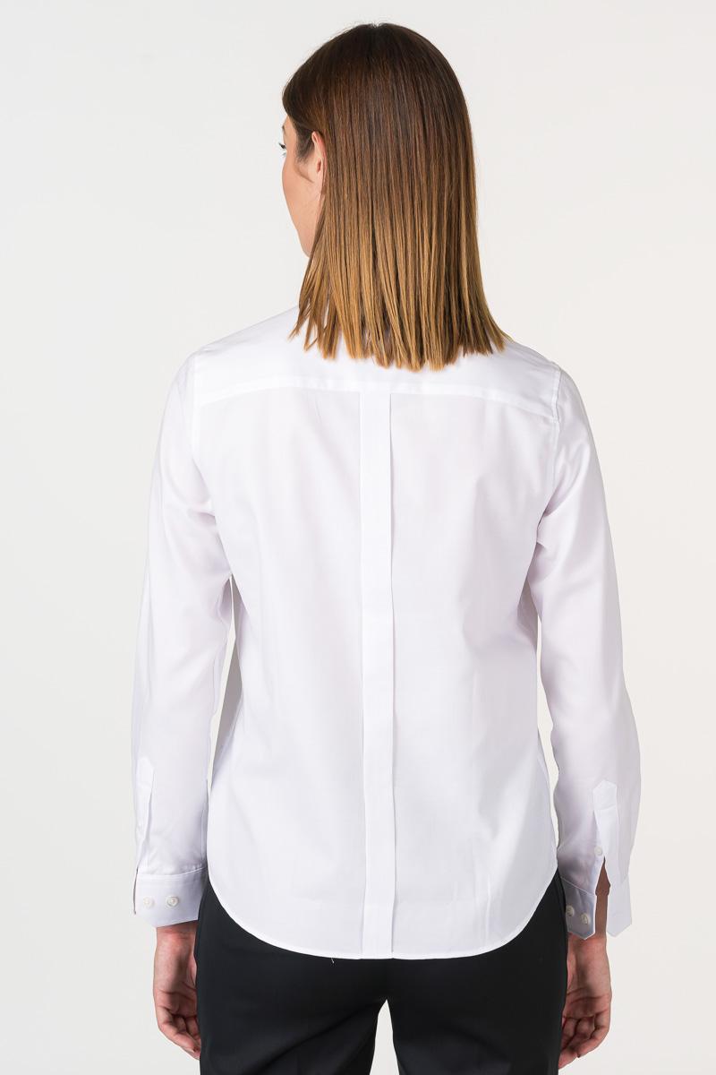 Varteks White women's shirt with detail on the back