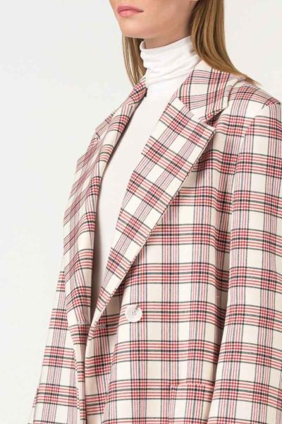 Varteks White plaid women's coat