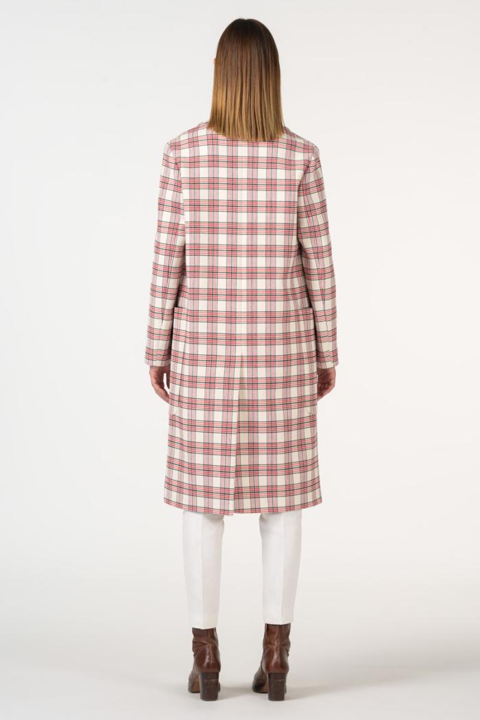 Varteks Crveno bijeli karirani ženski kaput