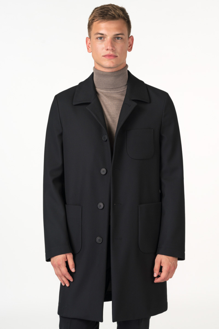 Varteks Classic men's black coat med length