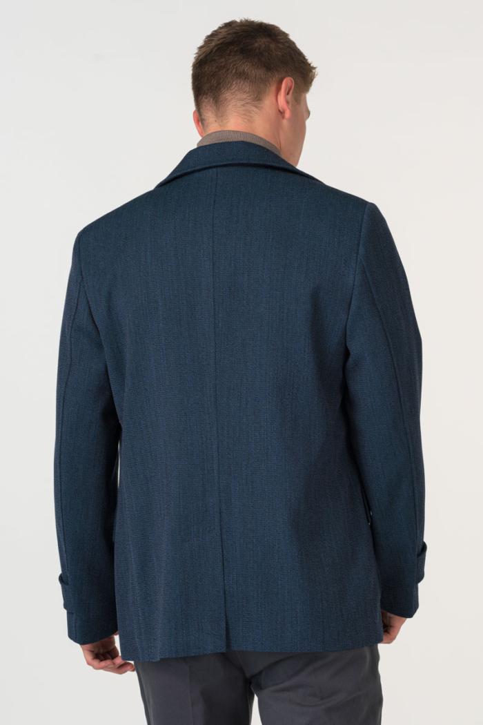 Varteks Tamno plavi muški kaput od runske vune