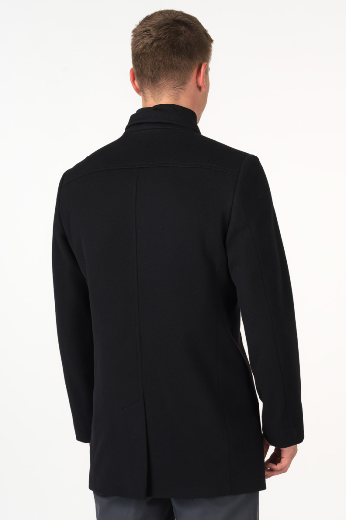 Varteks Double breasted black men's coat