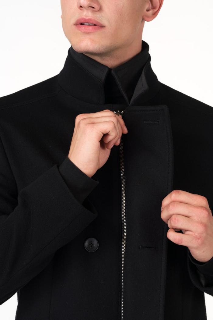 Varteks Double breasted black men's coat
