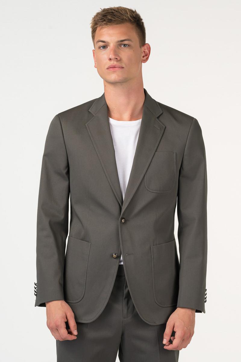 Varteks Men's olive green suit blazer - Slim fit