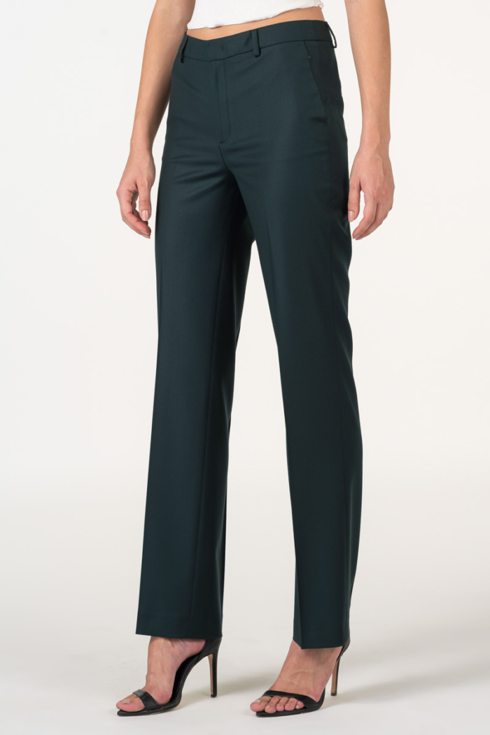 Varteks Dark green women's suit pants