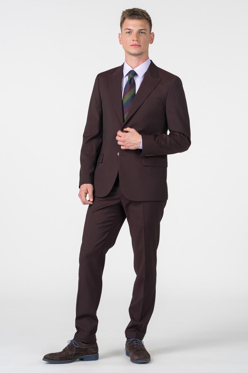 Muško odijelo od runske vune u dvije boje - Slim fit