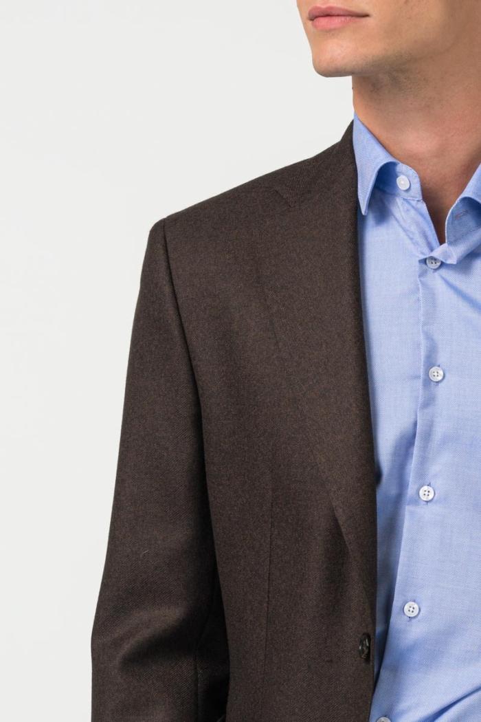 Varteks Smeđi muški sako s mikro dezenom - Regular fit