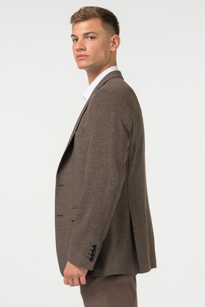 Varteks Men's blazer with a micro pattern earth tones - Regular fit