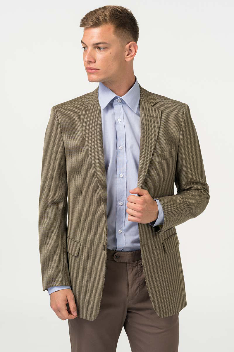 Varteks Men's blazer salt-pepper pattern - Slim fit