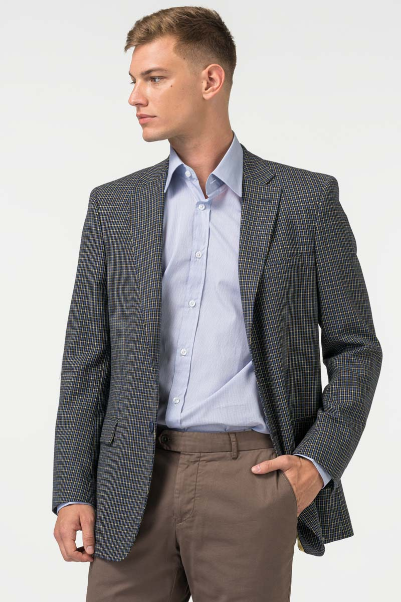 Varteks Men's plaid blazer - Slim fit