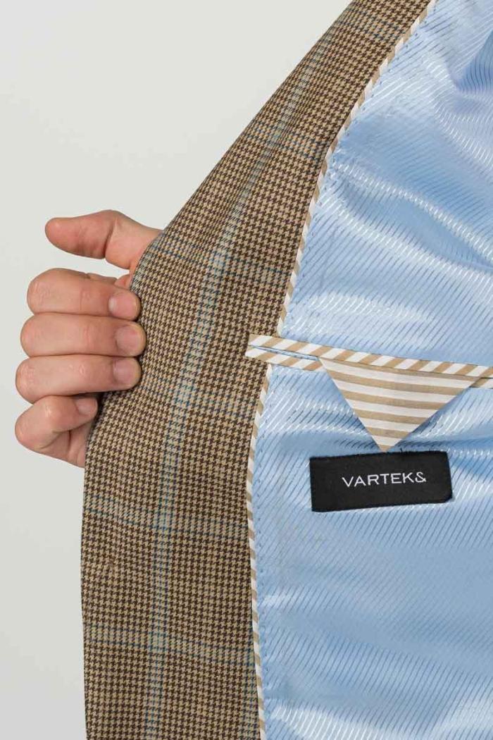 Varteks Men's blazer in warm earth tones - Regular fit