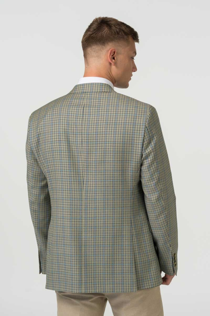 Varteks Men's blazer with micro-plaid pattern - Regular fit