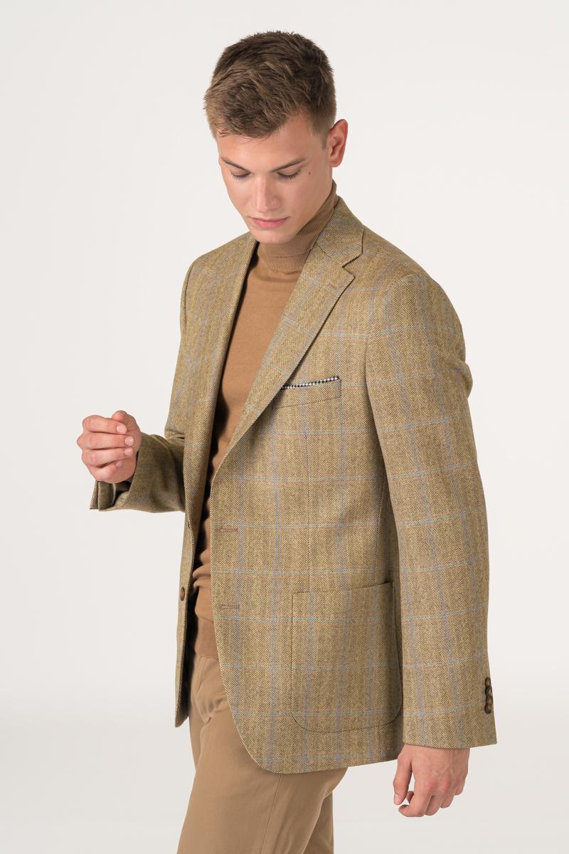 Varteks Muški vuneni sako kariranog uzorka - Regular fit