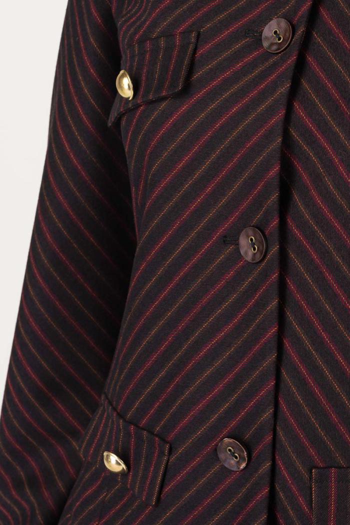 Varteks Short women's bordeaux blazer
