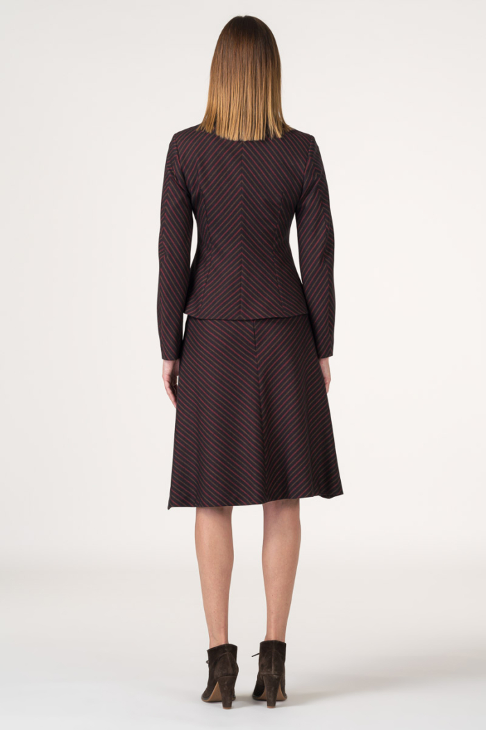 Varteks Elegantna bordo suknja