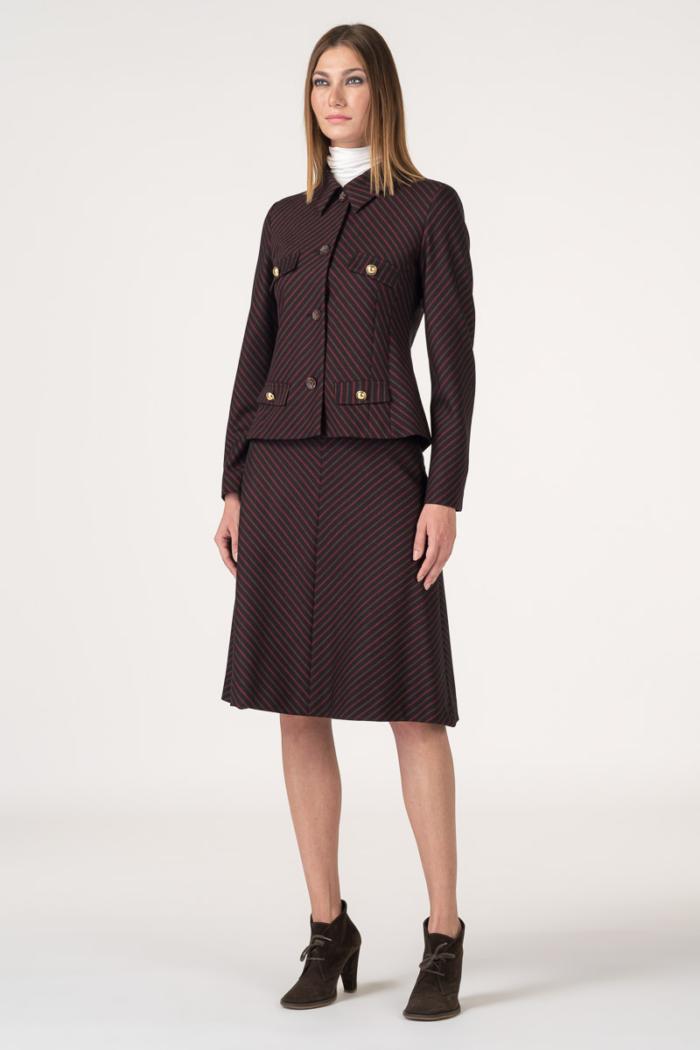 Varteks Elegant burgundy skirt