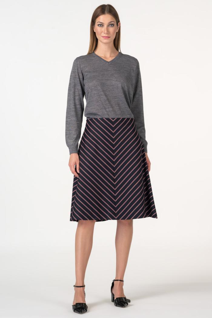 Varteks Ženska suknja prugastog uzorka