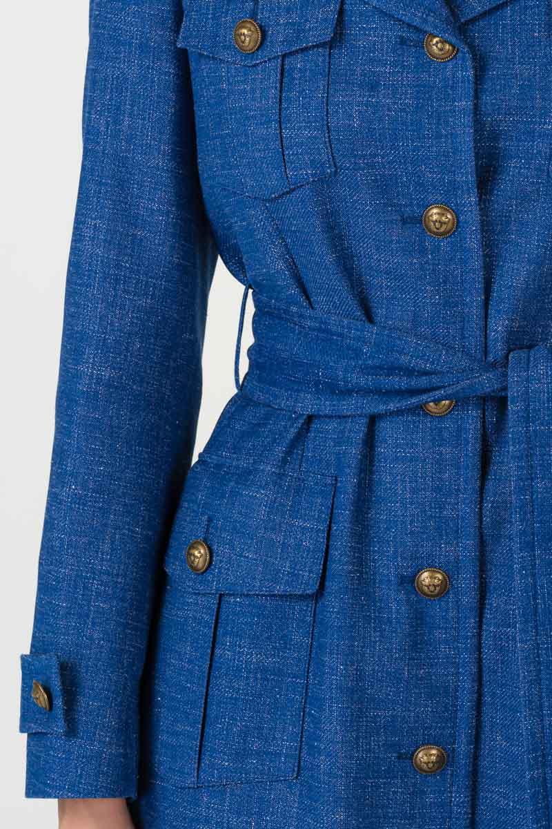 Varteks Lightweight coat in bright blue color