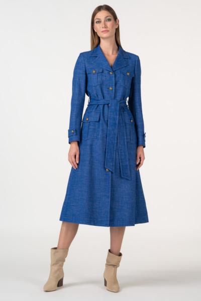 Varteks Lagani kaput upečatljivo plave boje