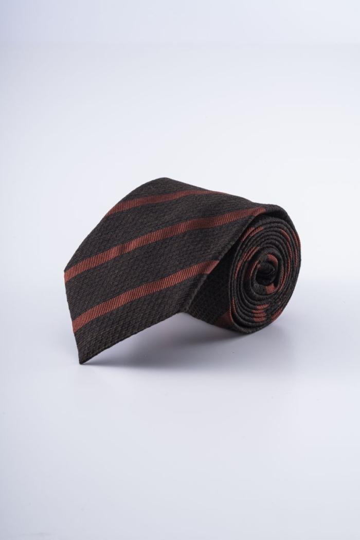 Varteks Brown men's tie with stripes