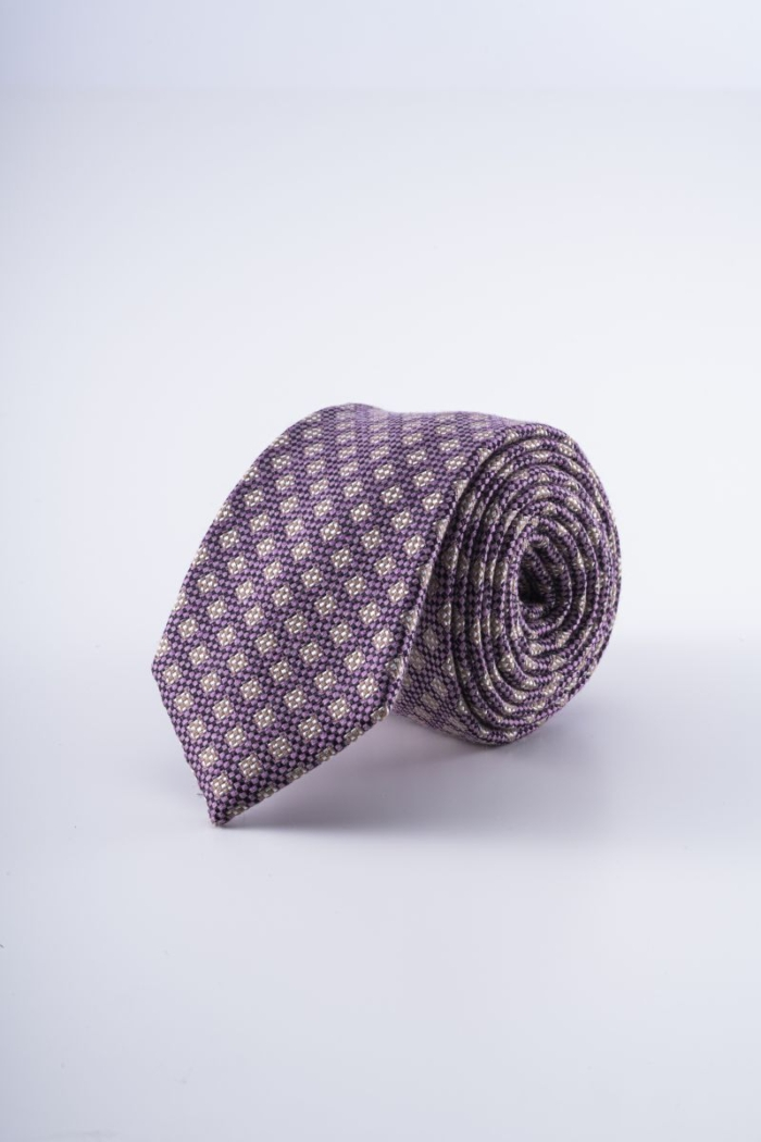 Varteks Purple tie with a small pattern