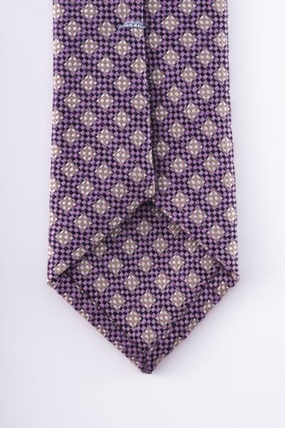 Varteks Ljubičasta kravata sa sitnim uzorkom
