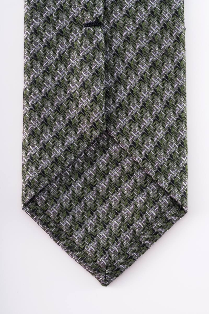 Varteks Kravata zelene boje s uzorkom