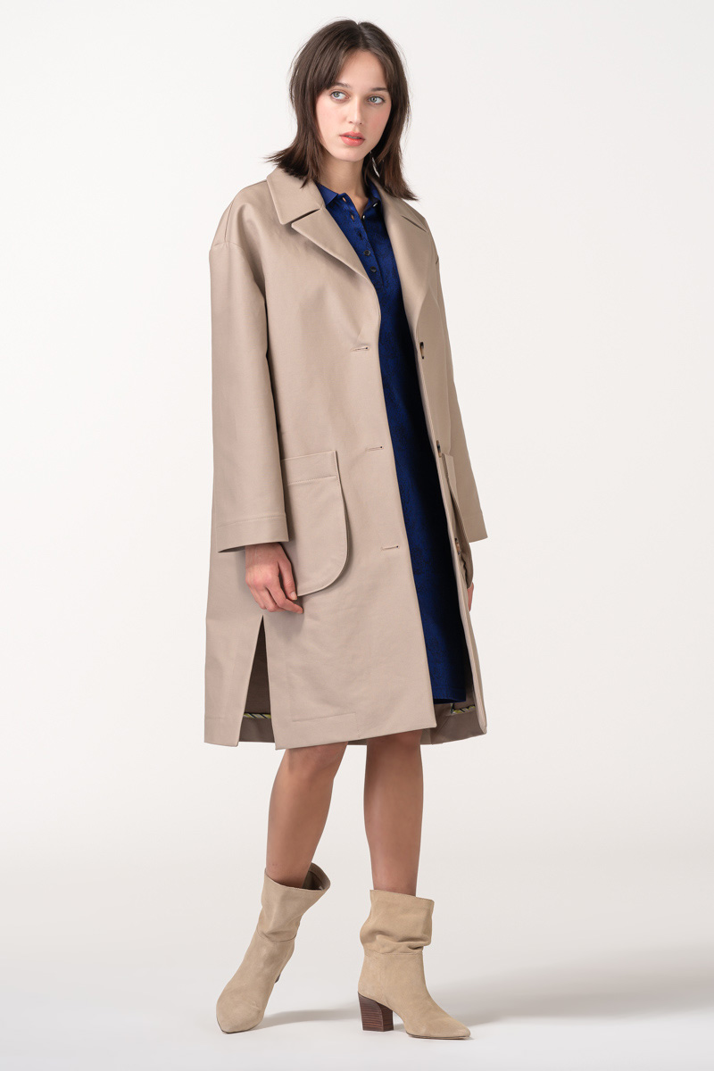 Varteks Women's cotton overcoat beige color