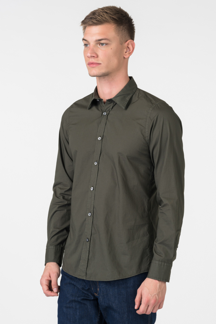 Varteks Men's dark green shirt - Regular fit