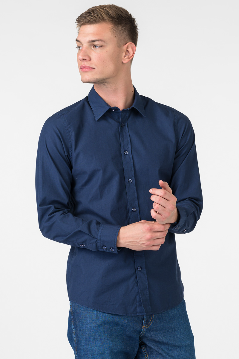 Varteks Dark blue men's shirt - Regular fit
